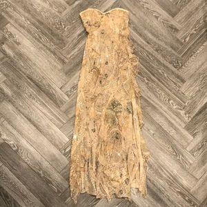 Diane vonFurstenberg Strapless Silk Print Dress